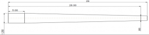 Hlavňovina Krieger 6.5mm / twist 1:7.5