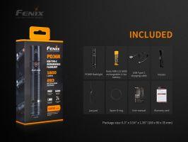 Nabíjecí taktická svítilna Fenix PD36R se stroboscopem